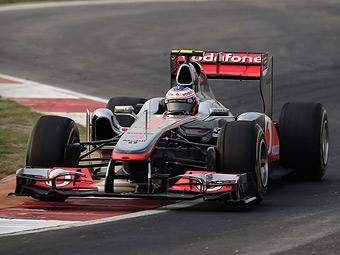 Дженсон Баттон стал быстрейшим на тренировке Формулы-1 в Абу-Даби