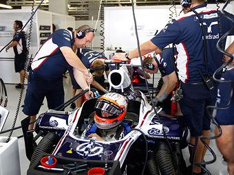 Баррикелло пропустил квалификацию из-за поломки двигателя