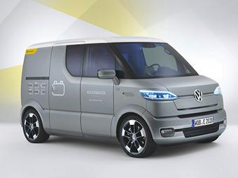 Volkswagen и Почта Германии построили электрический фургон