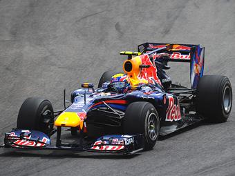 Марк Уэббер занял первое место в свободных заездах Формулы-1
