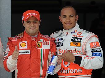 Хэмилтон помирился с Массой после финиша Гран-при Бразилии