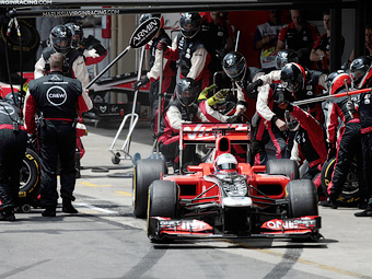 Команду Marussia Virgin оштрафовали за отвалившееся колесо