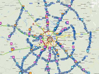 Подмосковье получило онлайн-карту автодорог