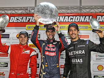 Хайме Альгерсуари выиграл картинговую гонку Фелипе Массы