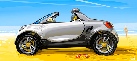 На моторшоу в Детройте Smart представит электрический концепт-кар For-us