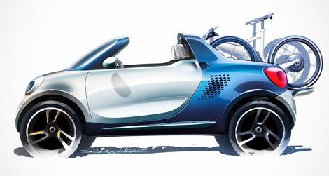 На моторшоу в Детройте Smart представит электрический концепт-кар For-us. Фото 3
