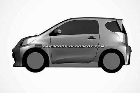 Toyota направила в патентное ведомство изображения новой версии своей малолитражки
