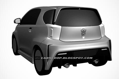 Toyota направила в патентное ведомство изображения новой версии своей малолитражки. Фото 1