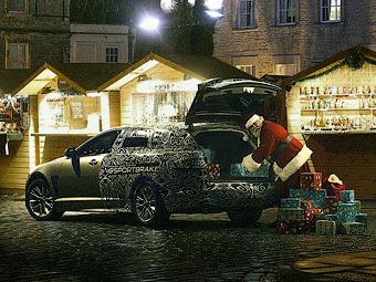 Jaguar показал рождественский тизер универсала XF