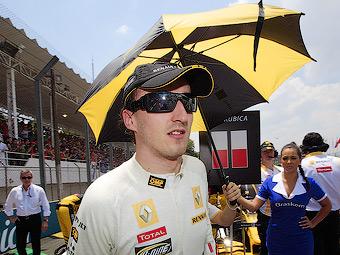 Роберт Кубица протестирует гоночный болид Ferrari
