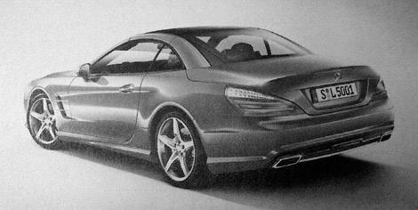 Фотографии родстера Mercedes-Benz SL следующего поколения сосканировали из рекламной брошюры