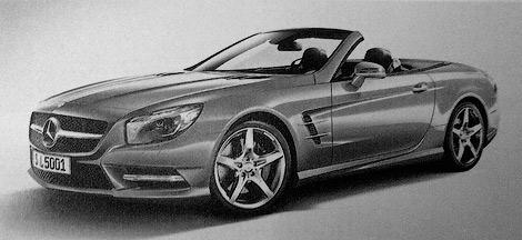 Фотографии родстера Mercedes-Benz SL следующего поколения сосканировали из рекламной брошюры. Фото 1