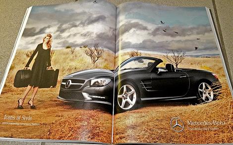 Фотографии родстера Mercedes-Benz SL следующего поколения сосканировали из рекламной брошюры. Фото 4