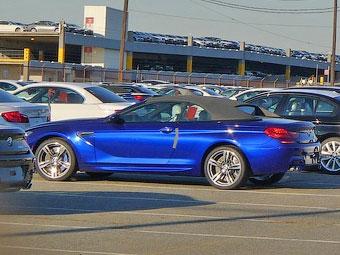 Кабриолет BMW M6 сфотографировали без камуфляжа