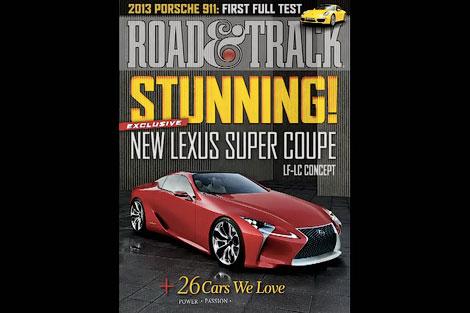 Издание Road & Track показало гибридное купе Lexus в анонсе нового выпуска. Фото 2