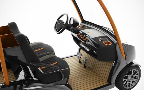Тюнер построил карбоновый автомобиль для игры в гольф. Фото 1