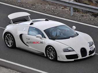 """Начались тесты """"заряженной"""" версии открытого Bugatti Veyron"""