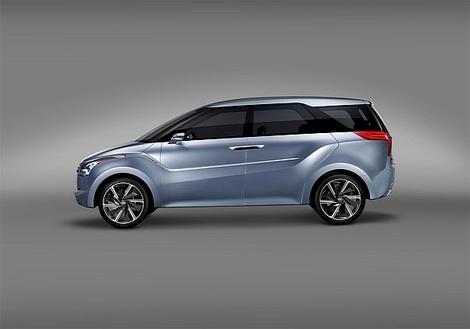 На автосалоне в индийском Нью-Дели показали концептуальный компактвэн Hyundai Hexa Space Concept