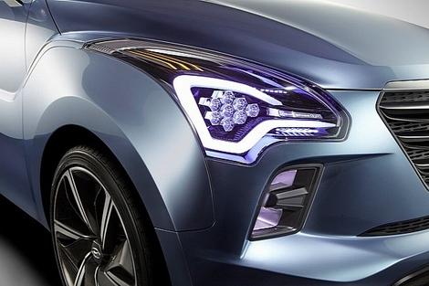 На автосалоне в индийском Нью-Дели показали концептуальный компактвэн Hyundai Hexa Space Concept. Фото 3