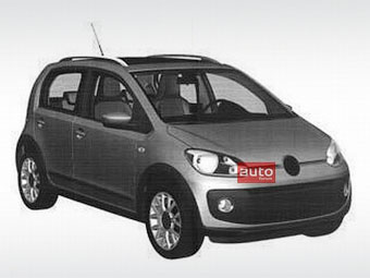Volkswagen запатентовал дизайн пятидверного компакт-кара up!