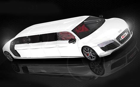 Компания Limo Broker к лету построит лимузин на базе суперкара Audi R8. Фото 3