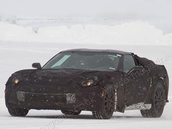 Фотошпионам впервые попался новый Chevrolet Corvette