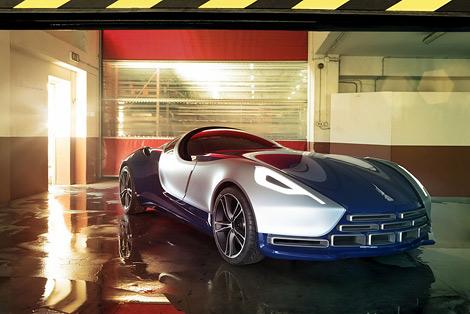 Туринское ателье UP Design рассекретило гибридный спорткар Vittoria