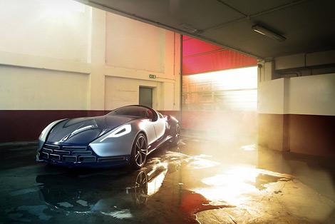 Туринское ателье UP Design рассекретило гибридный спорткар Vittoria. Фото 5
