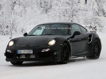 Новый Porsche 911 Turbo получит три турбины