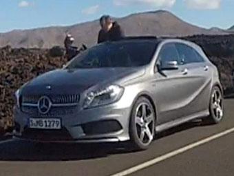 Новый Mercedes-Benz A-Class увидели на Канарах без камуфляжа