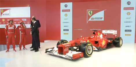 Гоночному автомобилю команды Формулы-1 Scuderia Ferrari присвоен индекс F2012