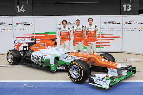 Индийская команда Формулы-1 представила гоночный автомобиль для 2012 года