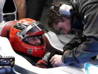 Прошлогодний болид помог Шумахеру опередить всех соперников на тестах