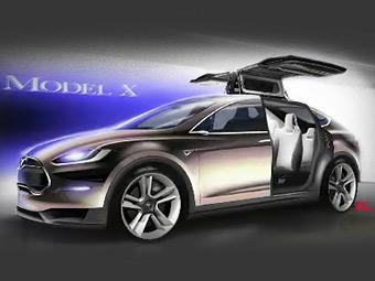 """Электрокроссовер Tesla получил """"крылья сокола"""""""