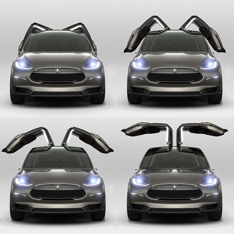 Американцы начнут продажи вседорожника Model X в 2015 году
