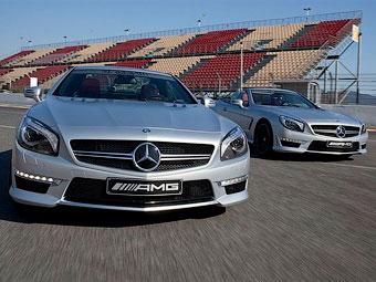 Самый мощный Mercedes-Benz SL представили на тестах Формулы-1