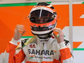 Хюлькенберг на Force India стал быстрейшим на тестах Формулы-1
