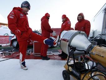 Снег осложнил подготовку команды Citroen к Ралли Мексики