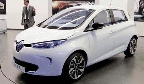 Появилась первая фотография серийного электрокара Renault Zoe