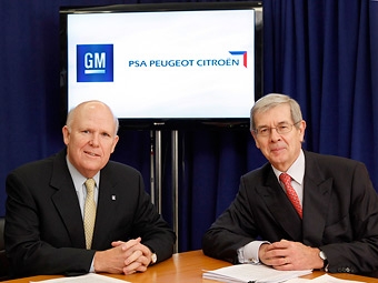 GM и PSA Peugeot Citroen будут вместе выпускать машины