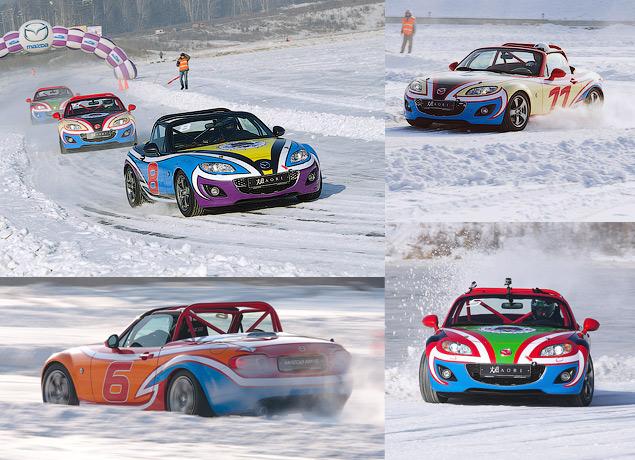 Россия против Австралии - гонки на льду. Фото 4