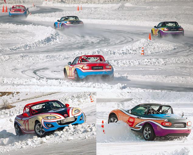 Россия против Австралии - гонки на льду. Фото 5