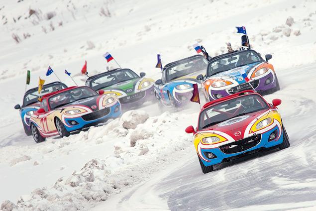 Россия против Австралии - гонки на льду. Фото 7