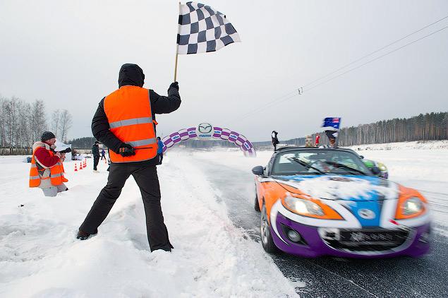 Россия против Австралии - гонки на льду. Фото 9
