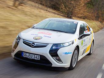 Гибрид Opel Ampera выиграл эко-версию Ралли Монте-Карло