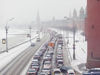 Скорость движения в центре Москвы снизилась на 15 процентов