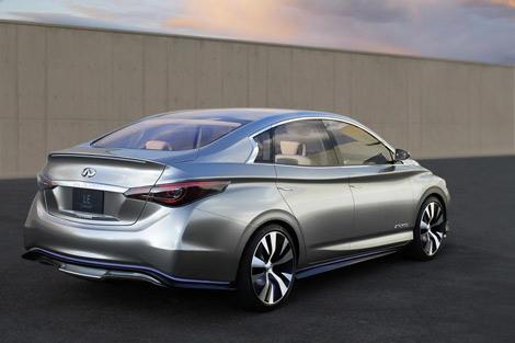 Концептуальный Infiniti LE построен на агрегатах электрокара Nissan Leaf. Фото 1
