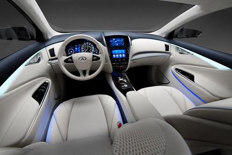 Концептуальный Infiniti LE построен на агрегатах электрокара Nissan Leaf. Фото 2