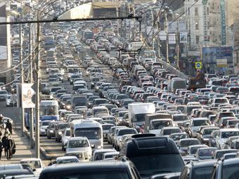 Перегруженность московских дорог достигла 40 процентов