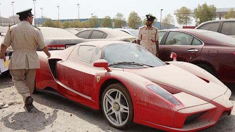 Владелец суперкара бросил машину из-за неоплаченных штрафов